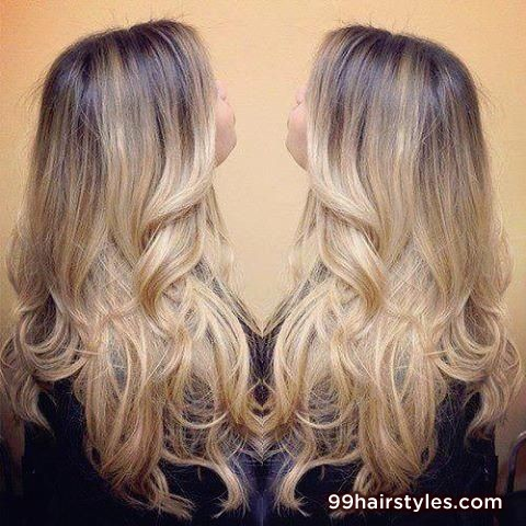 awesome ombre long bangs hairstyle idea